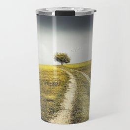 Grey sky Green tree 4 Travel Mug
