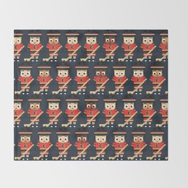 Super cute sports stars - Ice Hockey Red, Yellow and Black Throw Blanket