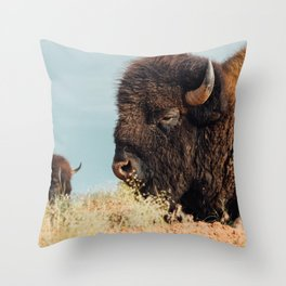 American Bison II Throw Pillow