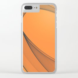 Zen Beach Orange Clear iPhone Case