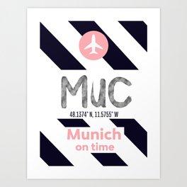 MUC MUNICH airport mdrn Art Print