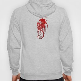 Flying Red and Black Tribal Dragon Hoody