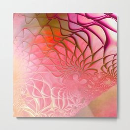 Web of the Universe (coral and magenta) Metal Print