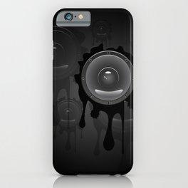 Grunge sound loudspeaker iPhone Case