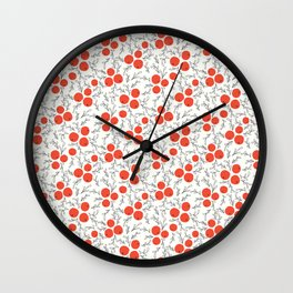 Home for the Holidays | Berries Wall Clock