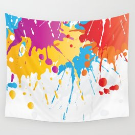 Colourful Paint Splash Wall Tapestry