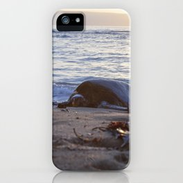 sunset snooze iPhone Case