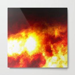Hot burning fireballs of hot flame Metal Print
