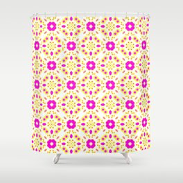 Bold Bloom | No. 4 | Floral Repeat Pattern Shower Curtain