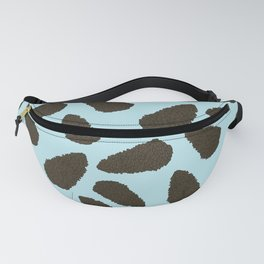 Tree Patterns: Blue Pinecones Fanny Pack