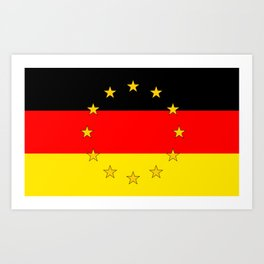 German European Union Flag Art Print