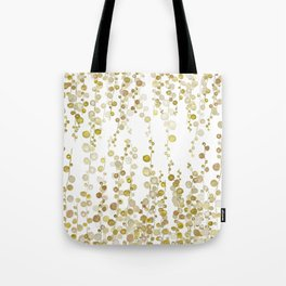 golden string of pearls watercolor Tote Bag