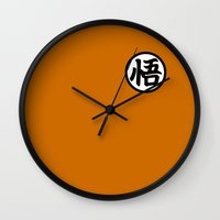 goku Wall Clocks featuring Goku symbol by Nicolasfl