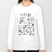 typo Long Sleeve T-shirts featuring TYPO CHAOS by Michela Buttignol