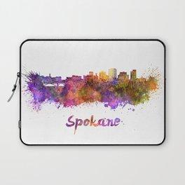 Spokane skyline in watercolor Laptop Sleeve