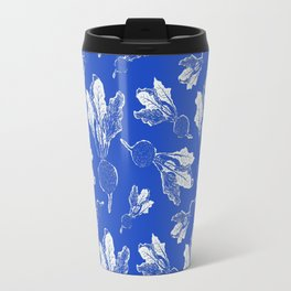 Feel the Beet in Blue Stamp Travel Mug