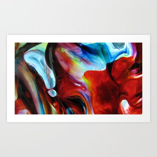 Rainbow Nebula Art Print