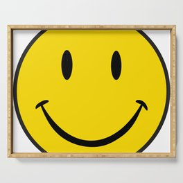Smiley Happy Face Serving Tray