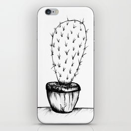 prickly black and white cactus iPhone Skin