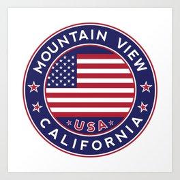 Mountain View, California Art Print
