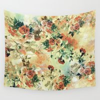 roses Wall Tapestries featuring Roses by RIZA PEKER