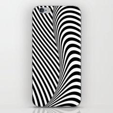 Black and White Pop Art optical illusion iPhone & iPod Skin
