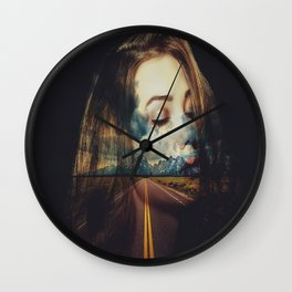 The Road to a Woman Wall Clock