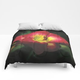 Glorious red daylily Joan Derifield Comforters