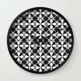 Minimal Motif Pattern 4 Wall Clock