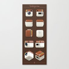 Instagram Orthographic Camera Canvas Print