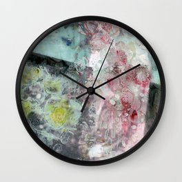 Fading Into Flowers Wall Clock