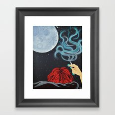 Midnight Toker (#2) - Smoking Lady Series Framed Art Print