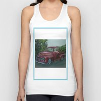 truck Tank Tops featuring Pickup truck by spiderdave7