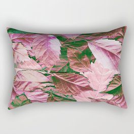The emerald and ruby scattered carpet Rectangular Pillow