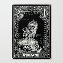 STRENGTH of Tarot Cat Canvas Print