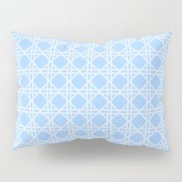 Cane Rattan Lattice in Blue Pillow Sham