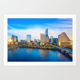 Austin 01 - USA Art Print