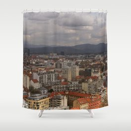 Over The Rooftops of Ljubljana Shower Curtain