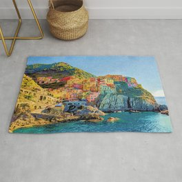 Cinque Terre, Italy | Painting Rug