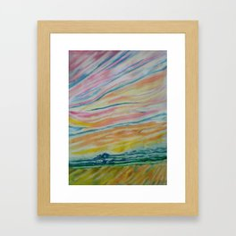 morning sky Framed Art Print
