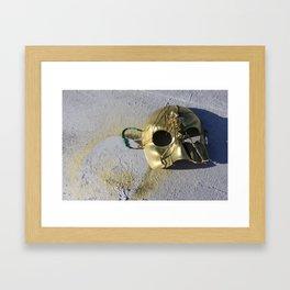 Gold Skeleton Mask, No. 1 Framed Art Print