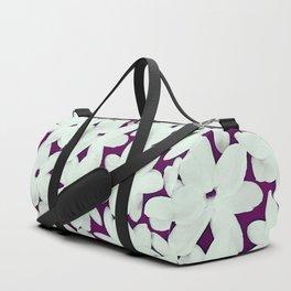 Scattered Jasmine Purple Duffle Bag