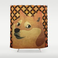 doge Shower Curtains featuring So Doge.  Much art. Wow. by Sam Pickle