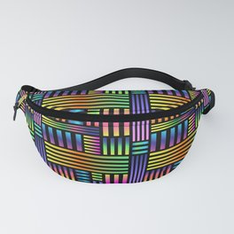 90's Neon Ombre Stripes Fanny Pack