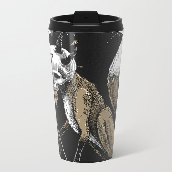 Kitsune Demon Fox Metal Travel Mug