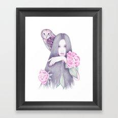 Moonlight And Roses Framed Art Print