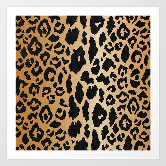 Leopard Print Linen Kunstdrucke