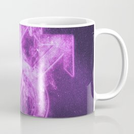 Male homosexuality symbol. Gay glyph. Doubled male sign. Abstract night sky background Coffee Mug