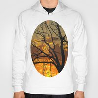 jewish Hoodies featuring Sunset Tree by Brown Eyed Lady