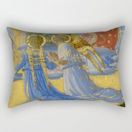 """Fra Angelico (Guido di Pietro) """"The Dormition and Assumption of the Virgin"""" (5) Rectangular Pillow"""